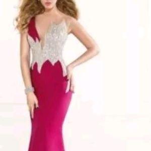 Mermaid Crystal evening formal party dress